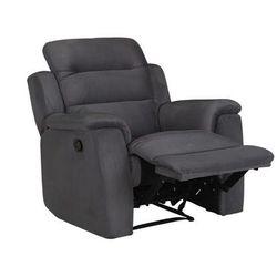 Fotel typu relaks z mikrofibry — antracytowy — SIMONO