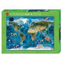 Puzzle, 2000 ELEMENTÓW Mapa satelitarna (GXP-580835)