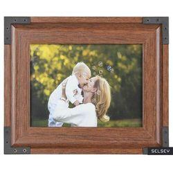 SELSEY Ramka na zdjęcia Jari drewniana 26,5x31,5 cm
