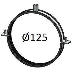 Obejma z uszczelką Średnice od DN 100-400 mm do rur Spiro Przewodów wentylacyjnych Średnica [mm]: 125