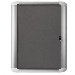 Gablota tekstylna wewnętrzna MASTER, szara, 816x688 mm