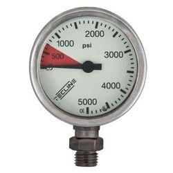 Manometr TecLine 5000 PSI 52 mm, chrom - głowica