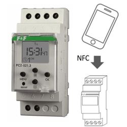 Zegar sterujący tygodniowy włącz / wyłącz jednokanałowy PCZ-521 F&F