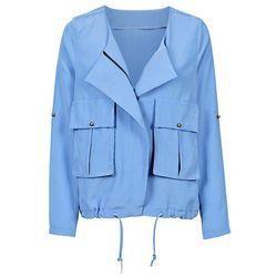 Krótka kurtka bonprix niebieski