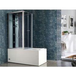 Prysznic/wanna z hydromasażem DARIA z akrylu wzmacnianego włóknem szklanym kolor: ciemnoszary - 75 x 150 x 215 cm - 30 mikro dysz i 6 dużych dysz