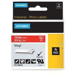 Dymo taśma do drukarek etykiet, 1805422, biały druk/czerwony podkład, 5,5m, 19mm