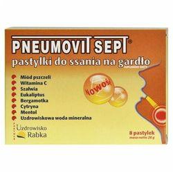Pneumovit SEPT GorVita pastylki do ssania do gardła infekcje wirusowe bakteryjne 8szt