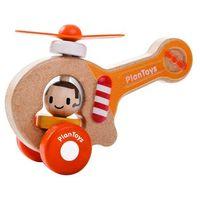 Helikoptery dla dzieci, Eko Helikopter z Ludzikiem i Ruchomymi Śmigłami, PLAN TOYS, PLTO 5685
