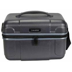 Travelite Vector kuferek podróżny / kosmetyczka twarda 20l / szary - antracyt ZAPISZ SIĘ DO NASZEGO NEWSLETTERA, A OTRZYMASZ VOUCHER Z 15% ZNIŻKĄ