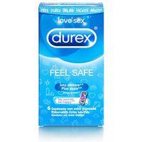 Prezerwatywy, Prezerwatywy nawilżane - Durex Emoji Feel Safe Condoms 6 szt