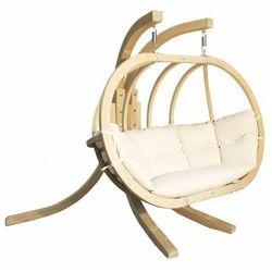 Podwójny fotel wiszący do ogrodu ecru - Parys 3X