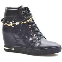 Damskie obuwie sportowe, Sneakersy Carinii B5550-E50 Czarne lico