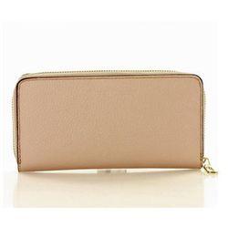 Modny duży portfel z naturalnej skóry Marco Mazzini P115H Powder Pink - Mazzini