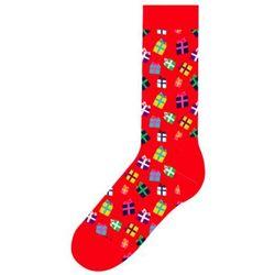 Skarpetki Happy Socks Holiday Singles Gift GIF01-4000 Prezenty - Czerwony