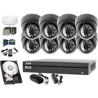 Zestawy monitoringowe, Zestaw do monitoringu: Rejestrator BCS-XVR0801, 8x Kamera LV-AL25HD, 1TB, akcesoria