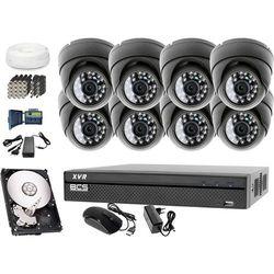 Zestaw do monitoringu: Rejestrator BCS-XVR0801, 8x Kamera LV-AL25HD, 1TB, akcesoria