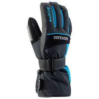 Odzież do sportów zimowych, Rękawice zimowe Snowboard Defender - szaro-niebieskie viking (-20%)
