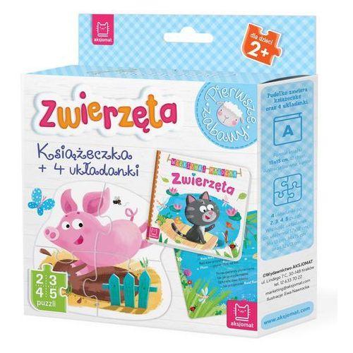 Puzzle, Zwierzęta Książeczka i cztery układanki Puzzle dla malucha - Praca zbiorowa