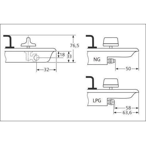 Płyty gazowe, Siemens ER64151DE