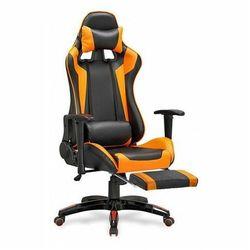 Fotel gamingowy obrotowy z podnóżkiem X-One - pomarańczowy