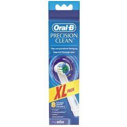 8 końcówek standardowych Precision Clean do szczoteczek Braun Oral-B