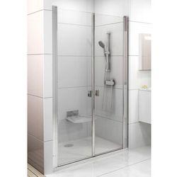 Ravak Chrome drzwi prysznicowe dwuelementowe CSDL2-110, wys. 195 cm, Polerowane aluminium+Transparent 0QVDCC0LZ1