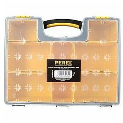 Perel PLASTIKOWY ORGANIZER Z WYJMOWANYMI POJEMNIKAMI - 420 x 335 x 105 mm