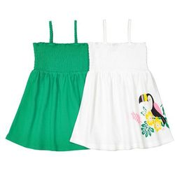 2 sukienki bez rękawów, Oeko Tex 1 miesiąc - 3 latka