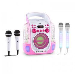Auna Kara Liquida zestaw do karaoke różowy + Kara Dazzl zestaw mikrofonów LED