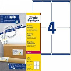 Białe etykiety wysyłkowe Avery Zweckform A4 100ark./op. 99,1x13,9mm