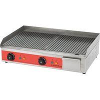 Grille gastronomiczne, Płyta grillowa elektryczna, ryflowana, 3,3 kW, 605x450x175 mm | CATERINA, 745102