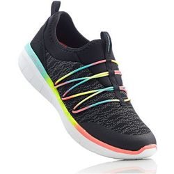 Buty sportowe wsuwane Skechers z pianką Memory bonprix czarno-kolorowy