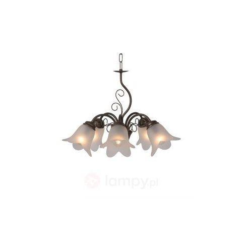 Lampy sufitowe, Lampa wisząca Luberon o rustykalnym wyglądzie 53cm
