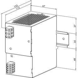 Zasilacz na szynę DIN WAGO 787-623, 48 V/DC (SELV), 2 A, 96 W