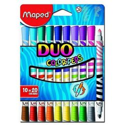 Flamastry dwustronne Color'Peps DUO 10szt. Maped