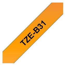 BROTHER Taśmy do drukarek TZ laminowane 12mm x 5m, czarny/fluorescencyjny pomarańczowy