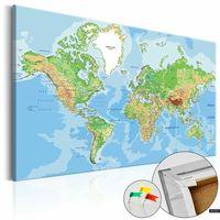 Tablice szkolne, SELSEY Tablica korkowa Geografia świata