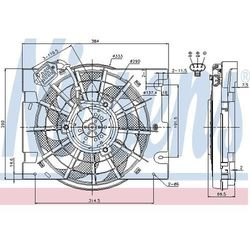 Wentylator, kondensator klimatyzacji NISSENS 85186