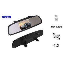 "NVOX NW350M Monitor samochodowy cofania LCD 3"" cale w lusterku wstecznym AV 12V"