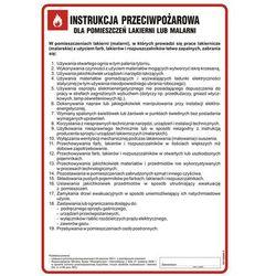 Instrukcja przeciwpożarowa dla lakierni (malarni)