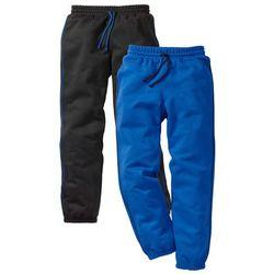 Spodnie dresowe (2 pary) bonprix czarny + lazurowy niebieski