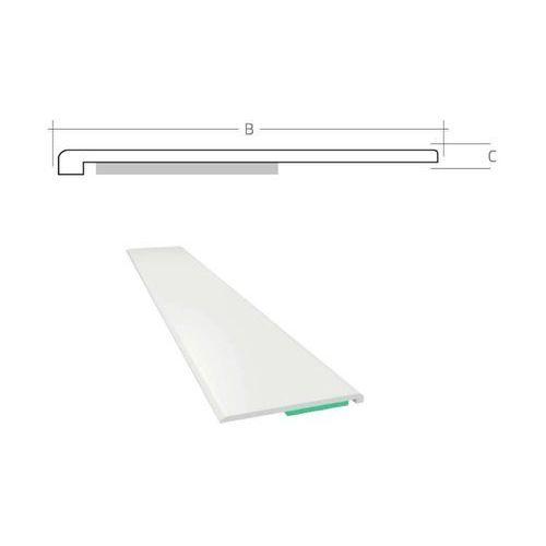 Pozostałe okna i akcesoria, Listwa maskująca płaska samoprzylepna PCV B=45 mm gr. C=1 mm biała bez uszczelki L=50 mb