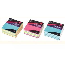 Karteczki samoprzylepne 50x50mm neon+pastel STRIGO