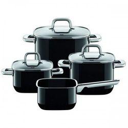 4-częściowy zestaw garnków Quadro Black
