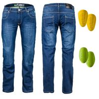 Spodnie motocyklowe męskie, Męskie jeansy motocyklowe W-TEC R-1027, Niebieski, 44