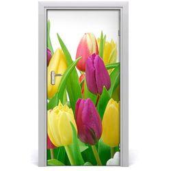 Nalepka Naklejka fototapeta na drzwi Kwiaty tulipany