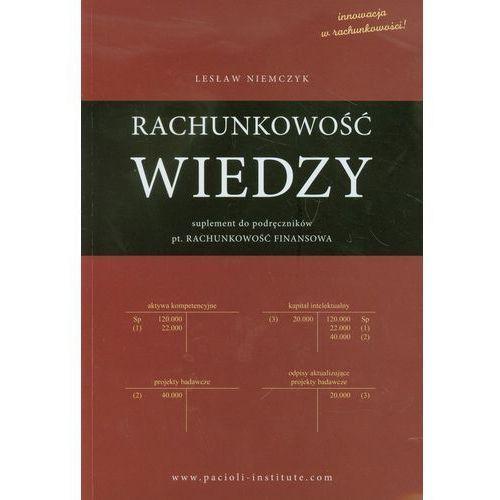 Biblioteka biznesu, Rachunkowość wiedzy - Lesław Niemczyk (opr. miękka)