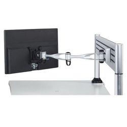 Uchwyt na monitor dwuramienny, obrotowy, montaż na nośniku, 1x monitor