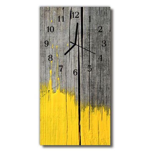 Farby, Zegar Szklany Pionowy Drewno farba żółty