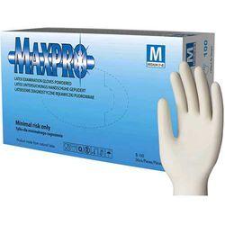 MAXPRO rękawiczki diagnostyczne, lateksowe, pudrowane - M - 100szt.